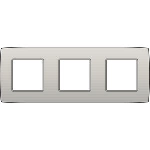 Niko Drievoudige horizontale afdekplaat, kleur Original light grey (Niko 102-76700)