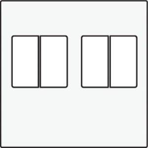 Niko afwerkingsset voor tweevoudige luidsprekeraansluiting kleur wit / 101-69701
