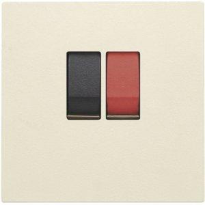 Niko afwerkingsset voor enkelvoudige luidsprekeraansluiting kleur cream / 100-69801