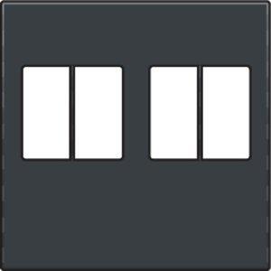 Niko afwerkingsset voor tweevoudige luidsprekeraansluiting kleur antraciet / 122-69701