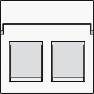 Niko afwerkingsset voor tweevoudige datacontactdoos kleur wit / 101-65200