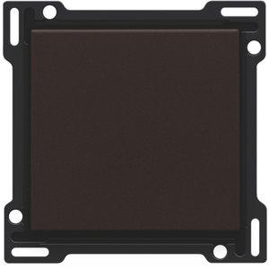 Niko afwerkingsset enkele toets, kleur Dark Brown 124-61105