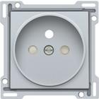 Niko afwerkingsset, sterling, stopcontact, inbouwdiepte 21mm Niko 121-66101