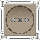 Niko afwerkingsset, bronze, stopcontact zonder penaarde, 123-66501