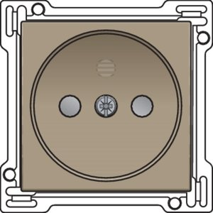 Niko afwerkingsset stopcontact zonder penaarde Niko 123-66501