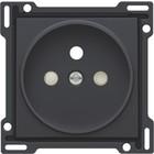 Niko afwerkingsset, Anthracite, stopcontact inbouwdiepte 21mm Niko 122-66101