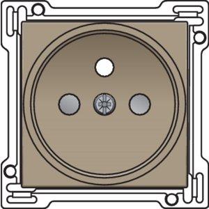 Niko afwerkingsset stopcontact inbouwdiepte 21mm Niko 123-66101