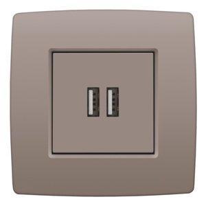 Niko Afwerkingsset voor USB-lader, greige, 104-68001