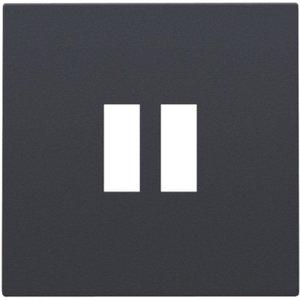 Niko Afwerkingsset voor USB-lader, antraciet, 122-68001
