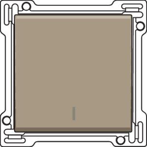 Niko Afwerkingsset voor drukknopdimmer, bronze ref. 123-31001
