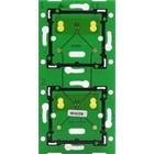 Niko Tweevoudige, verticale print ♥ 71mm voor combinatie met aansluitunit