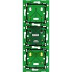 Niko Drievoudige, verticale print ♥ 60 mm voor combinatie met aansluitunit
