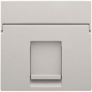 Niko afwerkingsset voor enkelvoudige datacontactdoos grijs/ 102-65100