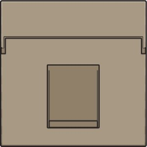 Niko afwerkingsset voor enkelvoudige datacontactdoos Bronze/ 123-65100