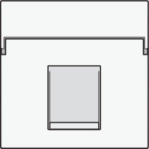 Niko afwerkingsset voor enkelvoudige datacontactdoos White Steel/ 154-65100