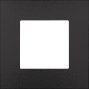 Niko Enkele afdekplaat, kleur Pure Bakelite piano black (Niko 200-76100)