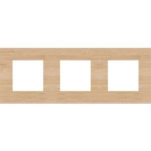 Niko Drievoudige horizontale afdekplaat, kleur Pure bamboo (Niko 156-76700)