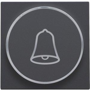 Niko Afwerkset verlichte drukknop belsymbool antraciet