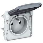 Legrand Plexo contactdoos 2P+A 10/16A 250V - samenstelbaar - grijs