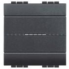 Bticino Drukknop NO Axiaal, 2 modules, Antraciet