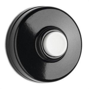 Deurbel in bakeliet zwart-witte toets