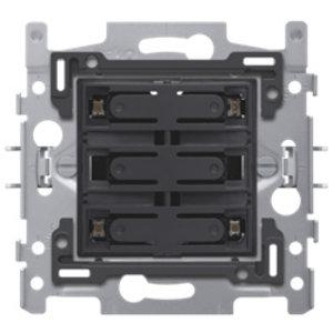 Niko Sokkel 4-voudige drukknop 24V N.O. met blauwe LED - 170-40160