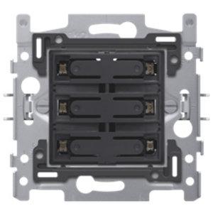 Niko Sokkel 6-voudige drukknop 24V N.O.met amberkleurige LED - 170-60150
