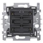 Niko 4-voudige drukknop amber LED - 170-40150
