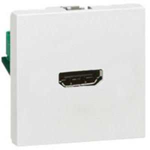Legrand Mosaic contactdoos HDMI - 2 modules - wit