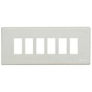 Bticino 506L/6/AL Magic aluminium Afdekplaat 6 modules