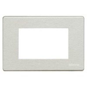 Bticino 503/3A/AL Magic aluminium Afdekplaat 3 module