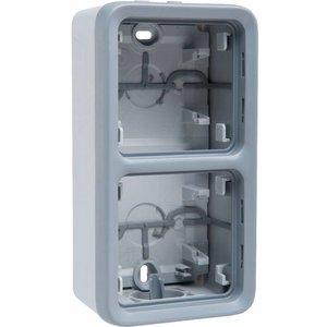 Legrand Plexo 2 verticale opbouwdoos met kabelinvoer - 1xboven en 1xonder
