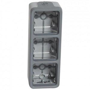 Legrand Plexo 3 verticale opbouwdoos met kabelinvoer - 1xboven en 1xonder