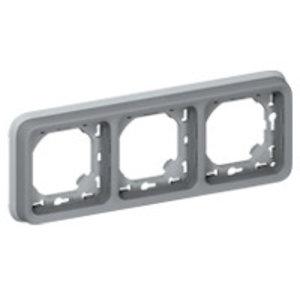 Legrand Plexo Inbouwkader- 3 horizontale mechanismen