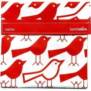 Lunchskins Rode Vogels: het milieuvriendelijke en herbruikbare boterhamzakje.