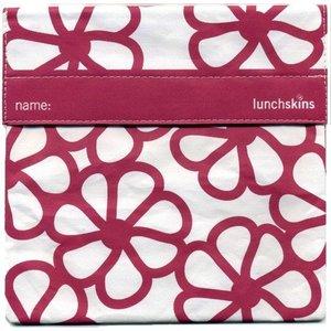 Lunchskins Paarse Bloemen: het milieuvriendelijke en herbruikbare boterhamzakje.