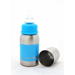 OrganicKidz™ Roestvrijstalen babyfles 0+mnd: blauw