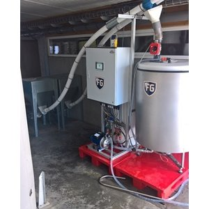 SCHULZ Systemtechnik Mobiele Fermenteer installatie 1 tank 400 ltr (400-1000 zeugen)