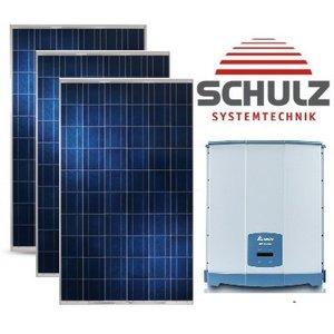 CSUN   Complete Systemen CSUN280-60 P 280Wp   12  panelen 3.360  Wp 1  faze