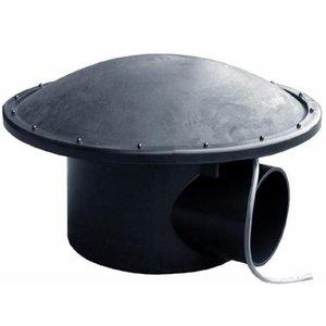 AquastoreXL Complete bodemdrain met beluchtingsdeksel met 25 mm luchtaansluiting aan de onderkant.