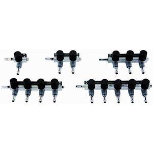 AquastoreXL Luchtverdeler 9mm 3 uitgangen met kraan