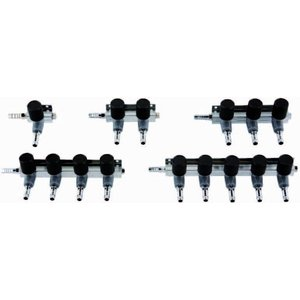 AquastoreXL Luchtverdeler 9mm 5 uitgangen met kraan