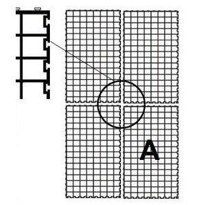HDPE Klikrooster Easy tray zwart