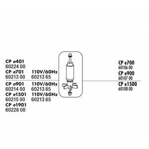 JBL CRISTALPROFI E700 ROTOR MET AS + RUBBERLAGER