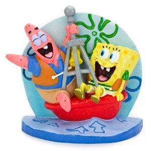 PENN PLAX Spongebob & Patrick on Buoy