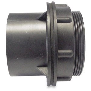 Doorvoer geschroefd ABS 50 mm lijmmof zwart