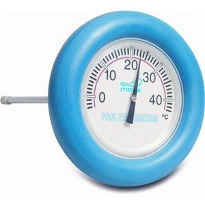 Mega Pool Drijvende thermometer blauwe ring
