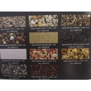 Superfish aquariumgrind gravel koffie 2-3 mm, 4 kilo