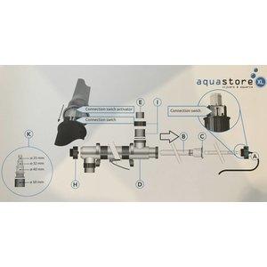 Superfish ALU T.UV+CONN.SW.QUARTSB.40/75W