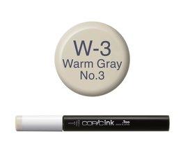 Copic inktflacon Copic inktflacon W3 Warm Gray 3